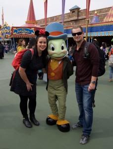 Mike & I meeting Disney characters!