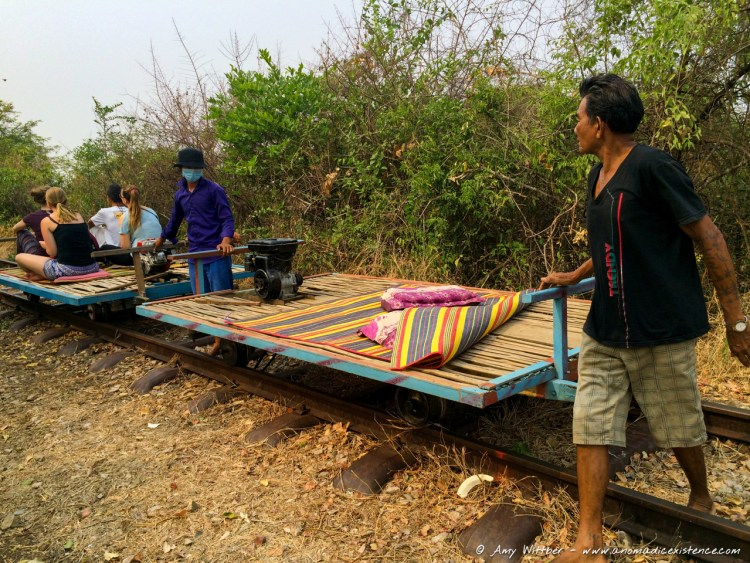 Bamboo Train, Battambang, Cambodia