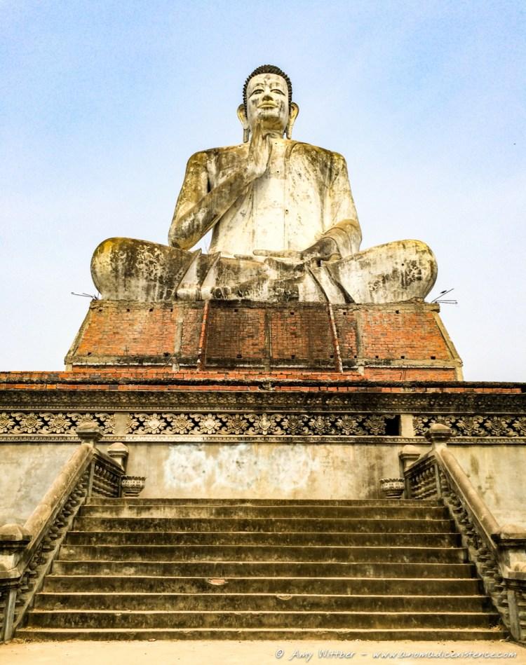 Seated Buddha, Wat Ek Phnom Temple Ruins, Battambang, Cambodia