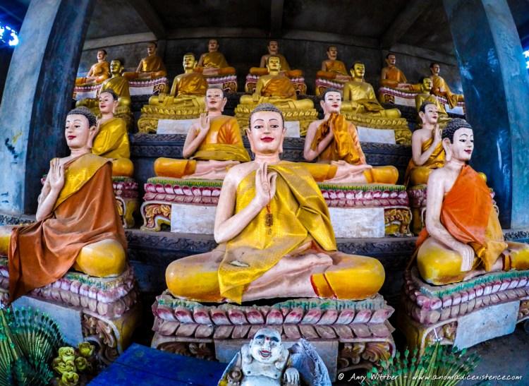 Hall of Buddhas, Wat Ek Phnom Temple Ruins, Battambang, Cambodia