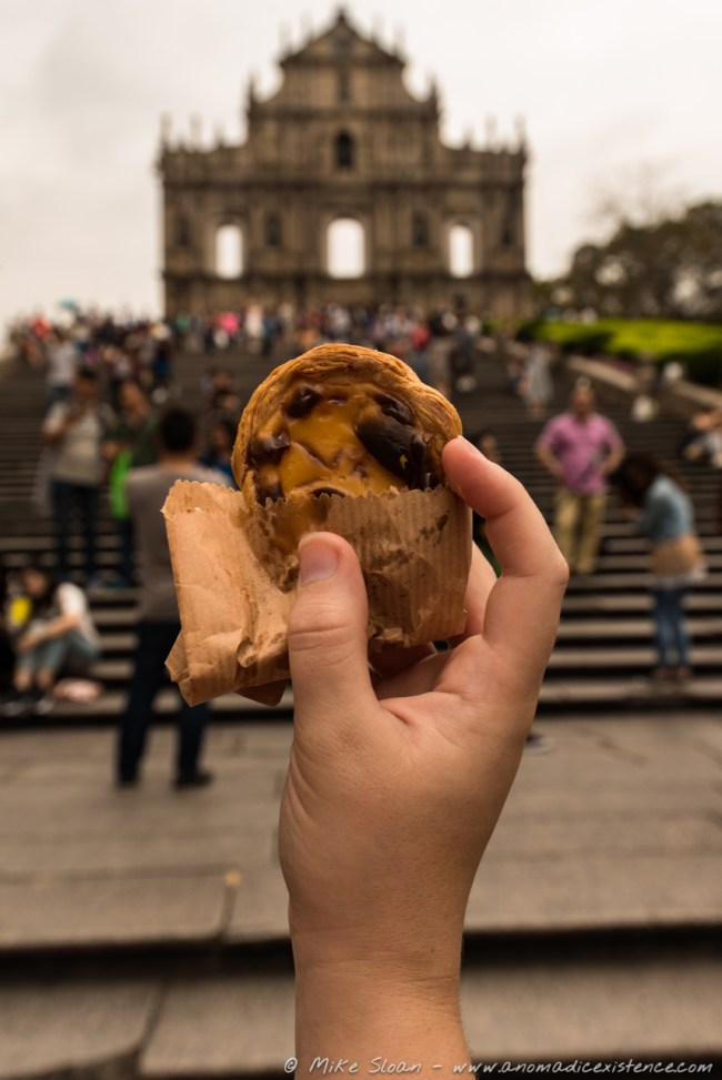 Portuguese Egg Tart, Ruins of St Paul, Macau, China