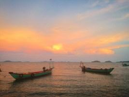 Sunset, Kep Beach, Kep Province, Cambodia