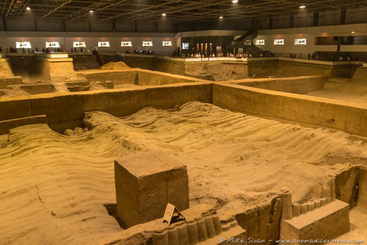 The expanse of Pit 2 - the majority is not excavated and a little underwhelming.