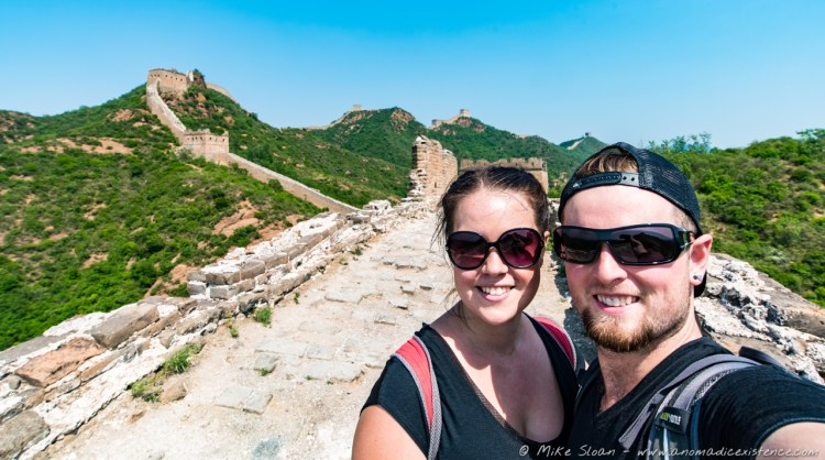 Mike & Amy, Great Wall of China, Jinshanling, Beijing, China