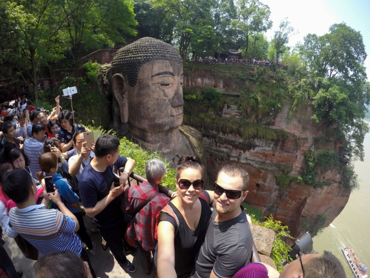 A typical scene at a tourist attraction in China - so many people!