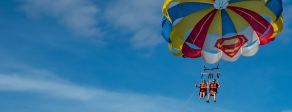 Parasailing in Boracay is glorious!