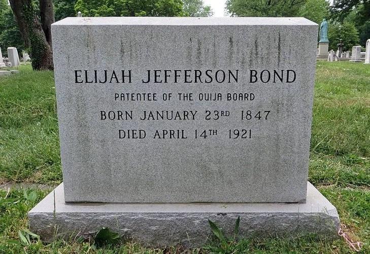 Pierre tombale Ouija Elijah Bond