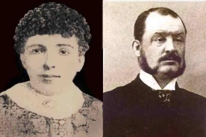 Elizabeth Berry, les cheveux courts, juste avant son exécution, et James Berry, l'homme qui l'a pendue