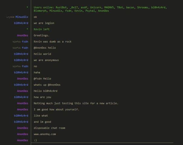 Darknet Chat Rooms