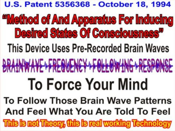 U S  Patent 6506148 B2 Confirms Human Nervous System Can be