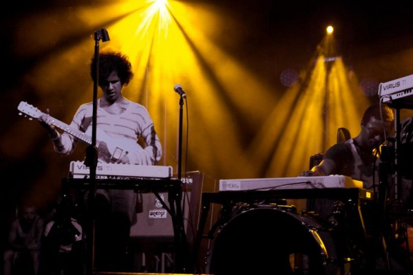 Omar Rodriguez Lopez and Deantoni Parks of Bosnian Rainbows at FFF2013 courtesy of Danielle Marie Huerta