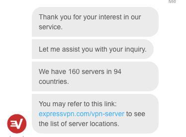 ExpressVPN contact servers