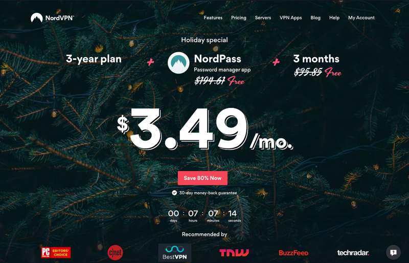 The NordVPN Website