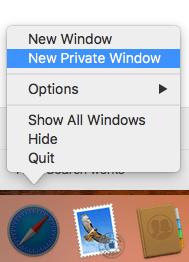 Safari Shortcut