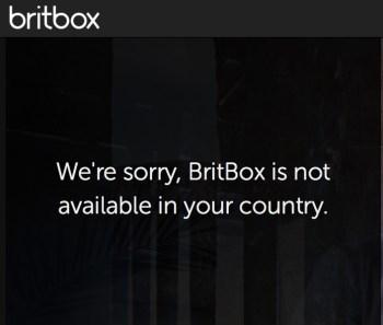 BritBox Geo-error