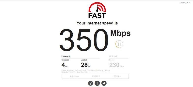 Test 1: No VPN Connection
