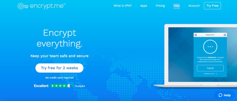 Encrypt.me VPN Website