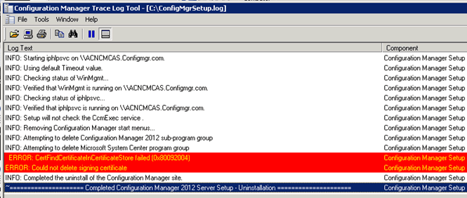 Hunt SCCM Issues Down: 2015