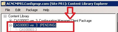 ContentLibraryExplorer Redtribute INVALID to PENDING package