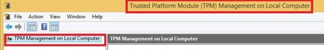 Trusted Platform Module (TPM) Management