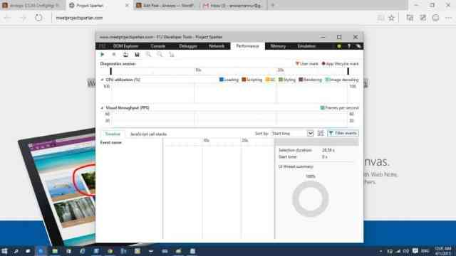 Spartan Browser with Build 10049-7