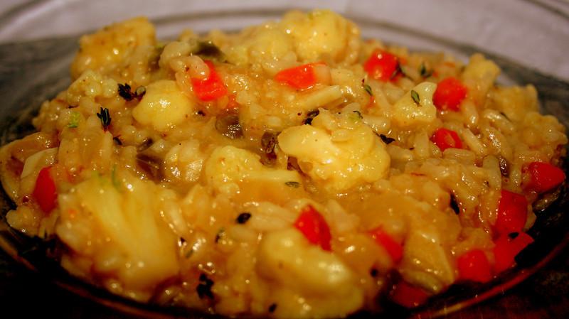 Roasted cauliflower risotto