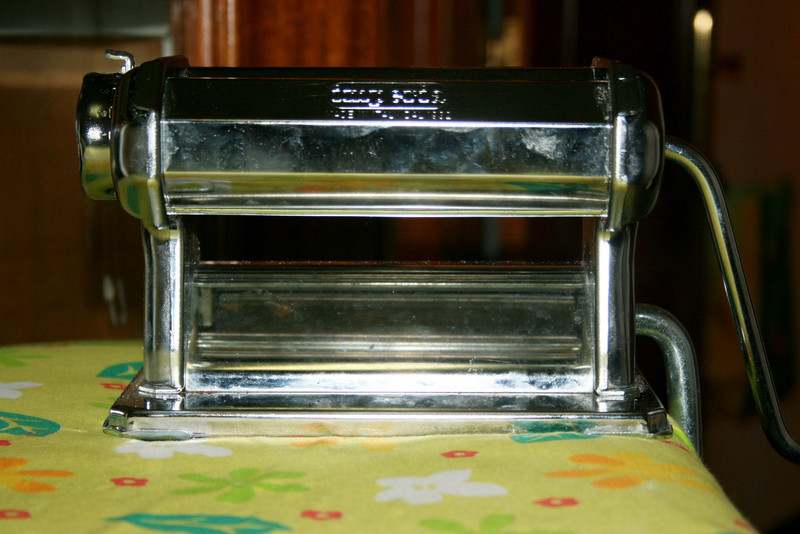 My trusty old pasta machine.