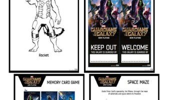 For Our Kiddies! #GuardiansOfTheGalaxy Activity Pack!