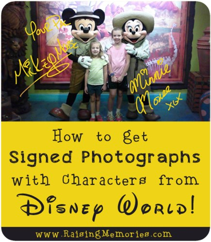 Signed Character Photos