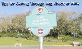 Tips for Getting Through Bag Check Stations at Walt Disney World