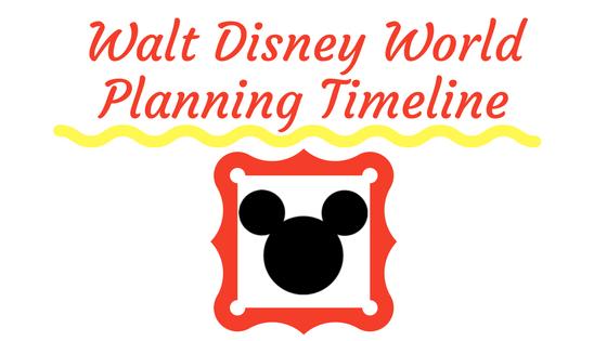 WDW planning timeline