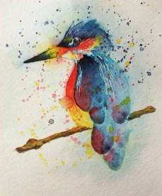 Bird Watercolor Irene Park An Opus Per Diem