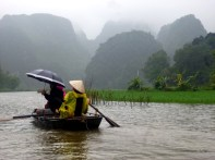 ninh binh, vietnam, rowing boat