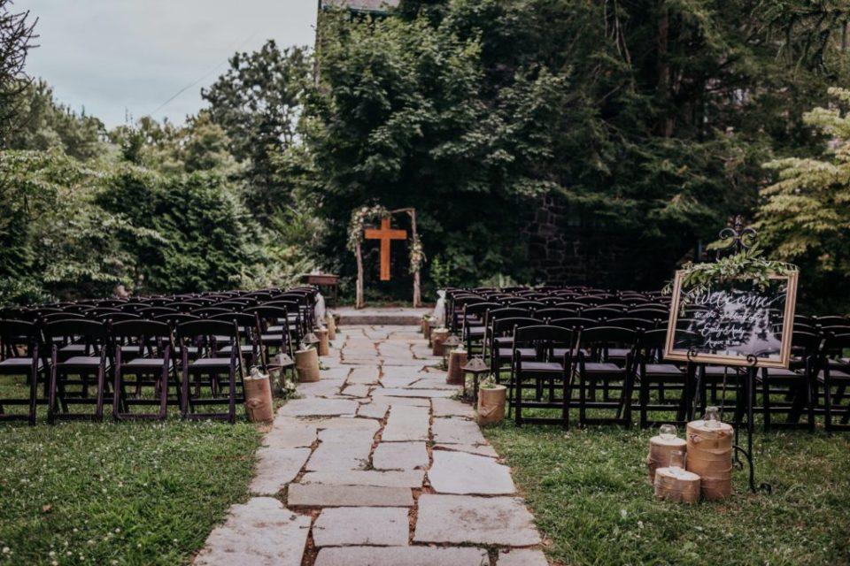 Garden ceremony site at Homewood Asheville.