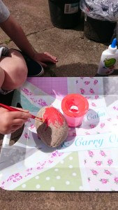 painting rocks activity