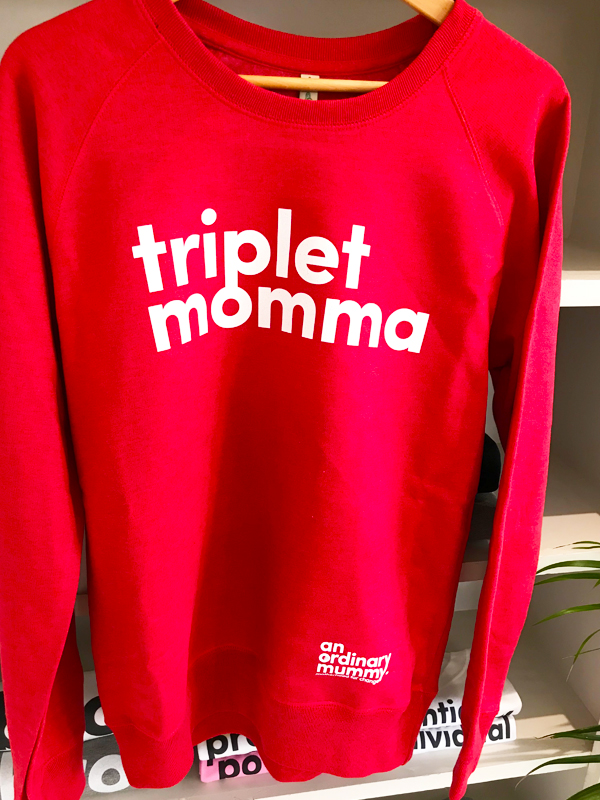 An Ordinary Mummy Triplet Momma Sweatshirt