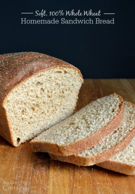 Easy, Soft 100% Whole Wheat Sandwich Bread Tutorial