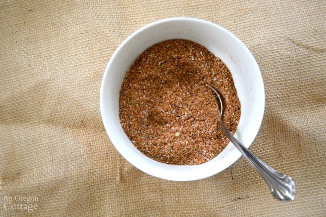 Basic Spice Rub mixes easily up in minutes.