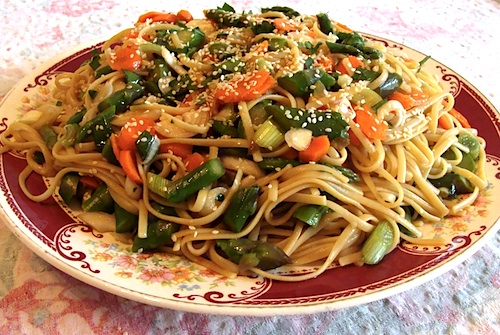 spicy noodle salad