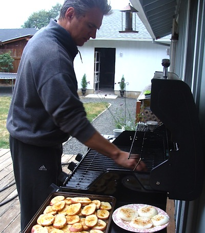 grilling potato planks