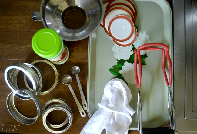 Waterbath Canning tutorial-canning supply set-up