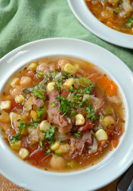 Harvest Vegetable Ham Bone Soup {Crockpot, Instant Pot, or Stovetop}