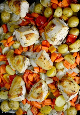 Easy Lemon-Garlic Roasted Chicken and Vegetables