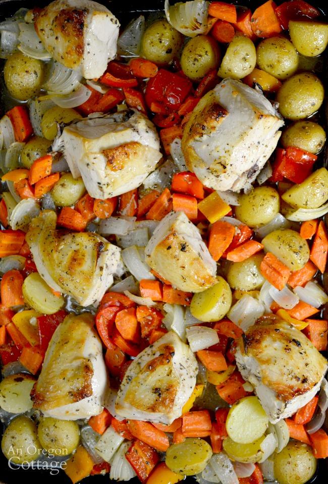Lemon-Garlic Roasted Chicken Sheet Pan Dinner An Oregon Cottage