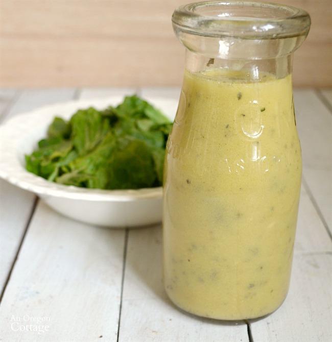 Lemon-Herb homemade vinaigrette salad dressing