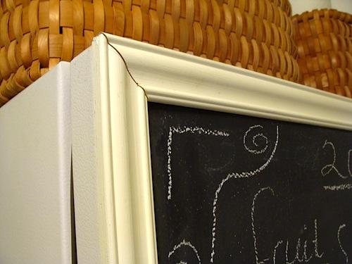chalkboard freezer molding