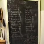 Organizing: Track Frozen Foods with a Chalkboard Freezer