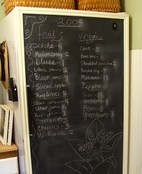 chalkboard freezer