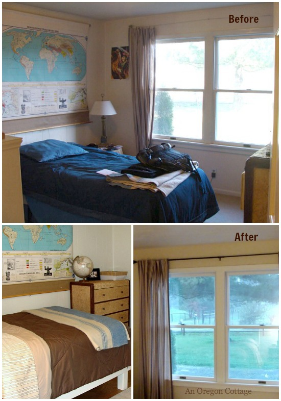 Teen Bedroom Makeover Before-After.l - An Oregon Cottage