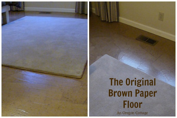 Teen Bedroom Makeover - The Original Brown Paper Flooring Technique at An Oregon Cottage